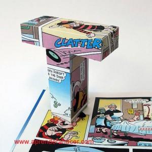 Letra 3D de comic reciclado