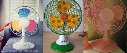 como pintar ventiladores