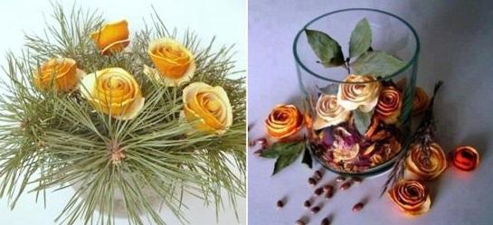 flores con naranjas