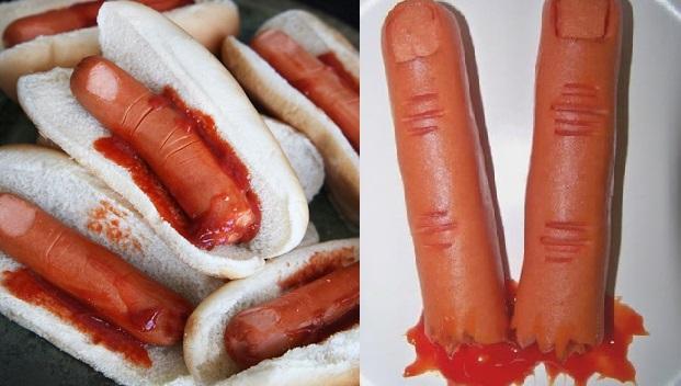 dedos con salchichas