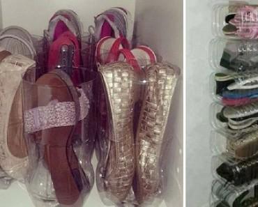 porta zapatos con botellas deplastico