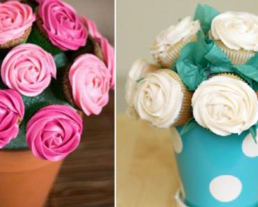 como hacer un ramo con cupcakes''